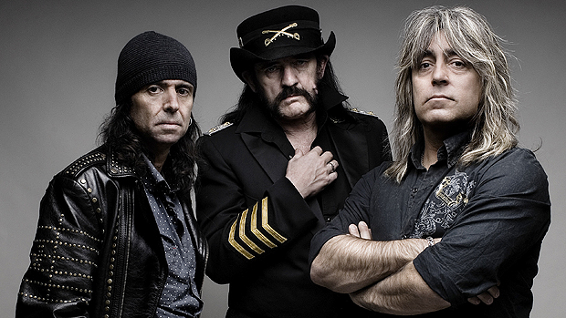 "<p>O trio Phil Campbell, Ian ""Lemmy"" Kilmister e Mikkey Dee, integrantes do Motörhead</p>"
