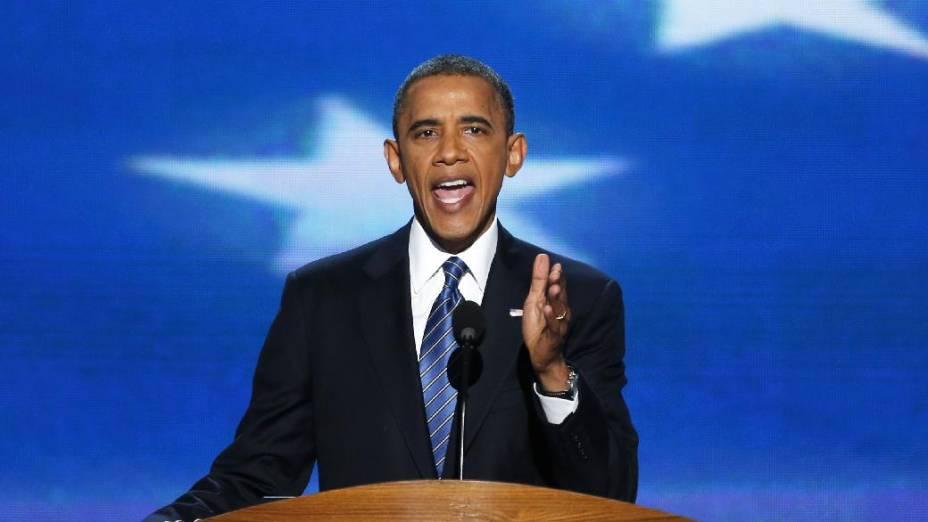 Economia foi o tema central do discurso do presidente Obama na convençaõ democrata