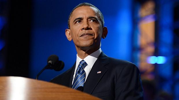 Barack Obama aceitou oficialmente a indicação do Partido Democrata em discurso no dia 6 de setembro