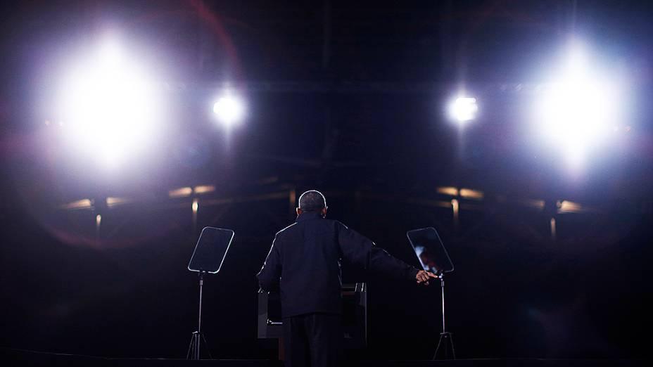 Presidente americano Barack Obama faz campanha em Bristow, no Estado de Virgínia, EUA