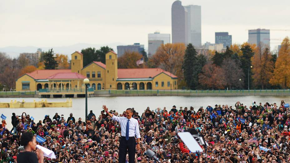 Comício do democrata Barack Obama, no estado americano do Colorado, em 24/10/2012