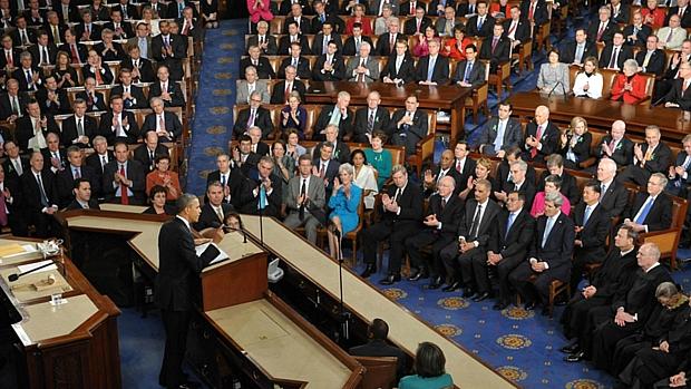 Obama realiza o tradicional discurso sobre o Estado da União, em Washington