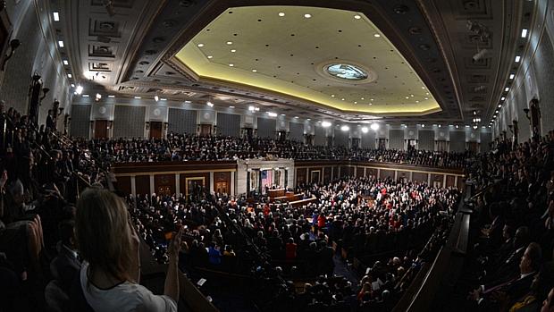 Membros do Congresso lotaram auditório para acompanhar discurso de Obama