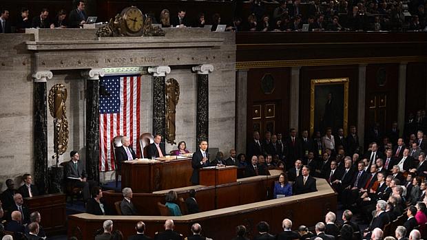 Barack Obama proferiu o primeiro discurso sobre o Estado da União de seu segundo mandato