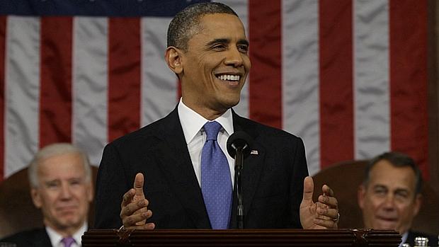 No discurso do Estado da União, Obama defendeu uma recuperação econômica com incentivos do governo
