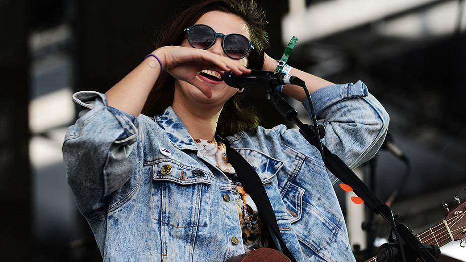 A banda de indie Of Monsters And Men durante Show no Lollapalooza