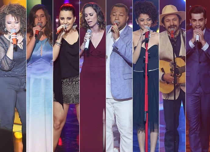 Os oito eliminados desta quinta-feira do The Voice Brasil