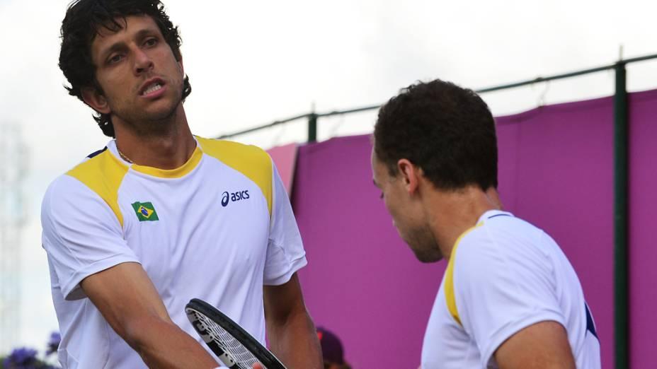 Bruno Soares e Marcelo Melo são eliminados pela dupla francesa dos Jogos Olímpicos de Londres em 02/08/2012