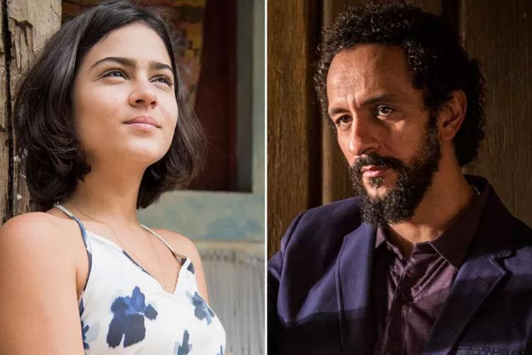 Olívia (Giullia Buscacio) e Bento (Irandhir Santos): sobrinha e tio em 'Velho Chico'