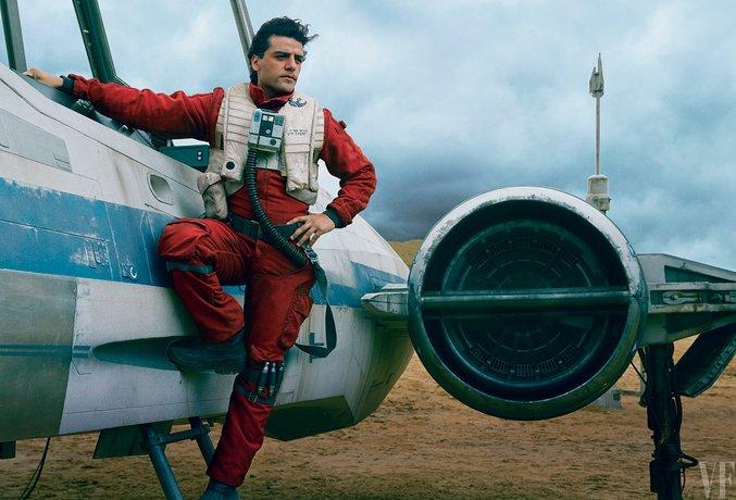 Oscar Isaac como Poe Dameronn em Star Wars: Despertar da Força