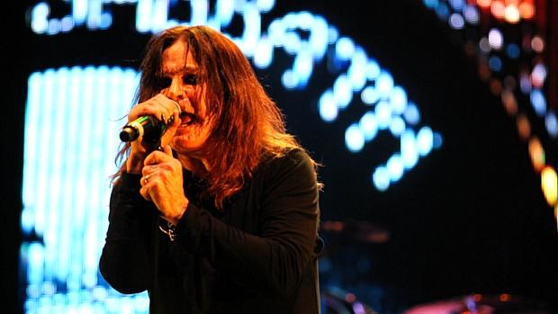 Ozzy Osbourne em show do Black Sabbath em São Paulo