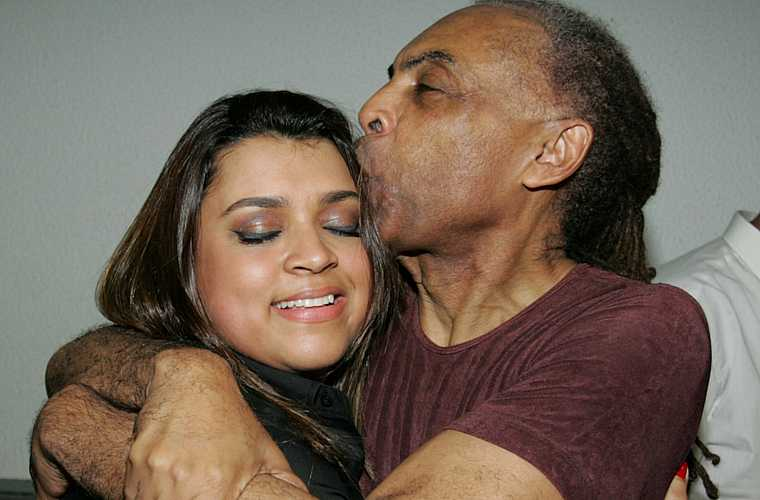 Gilberto Gil com Preta Gil, em 2008.