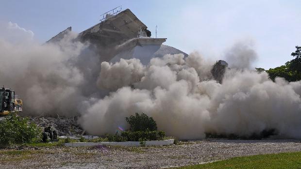 Finalizados os trabalhos de demolição do Palácio Presidencial do Haiti