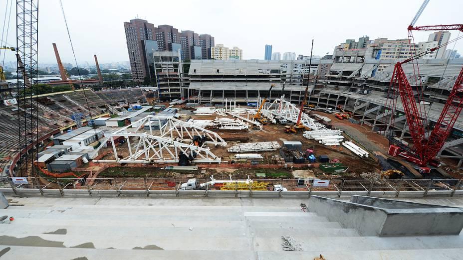 Obras da Arena Palmeiras, em São Paulo