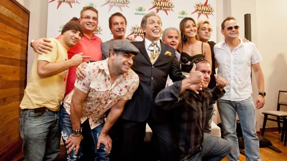 Elenco do programa, durante a coletiva do elenco de Pânico na Band, em 27/03/2012