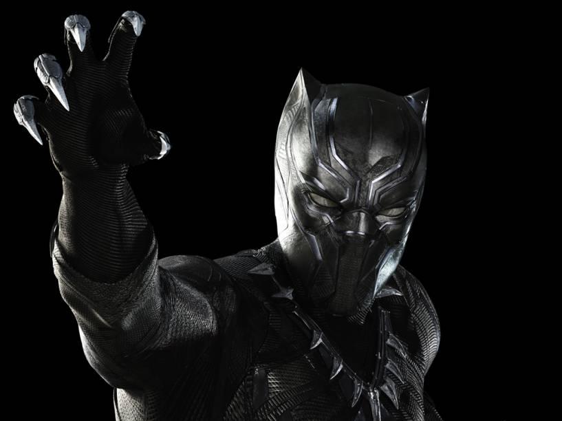 Pantera Negra (Chadwick Boseman) é um dos novos heróis que serão apresentados em Capitão América: Guerra Civil