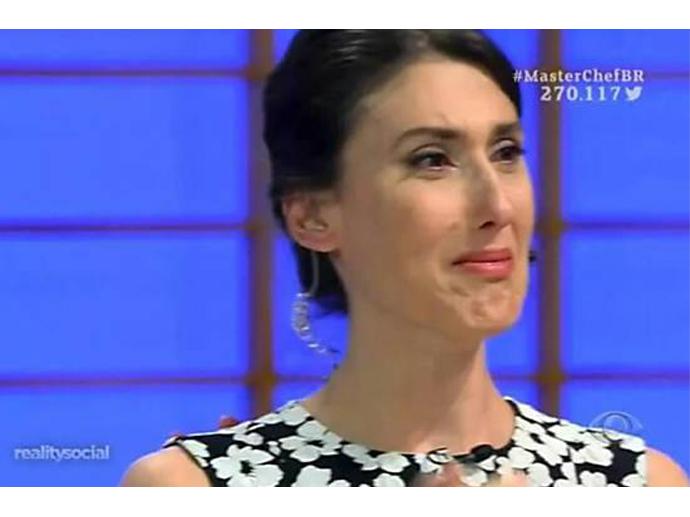 Paola Carosella vai às lágrimas com eliminação de Lucas do MasterChef