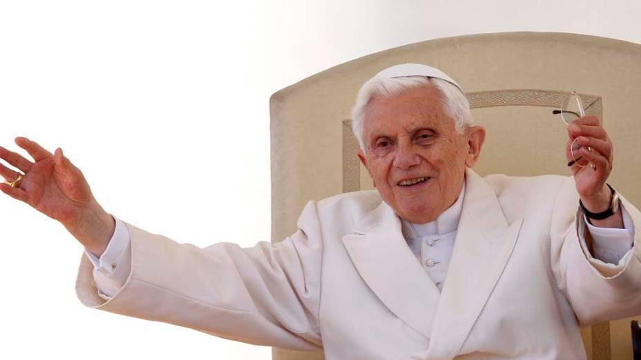 Papa Bento XVI durante evento no Vaticano