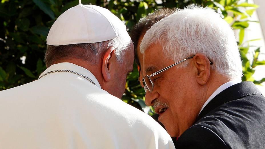 O Papa Francisco recebeu no Vaticano o presidente palestino, Mahmud Abbas