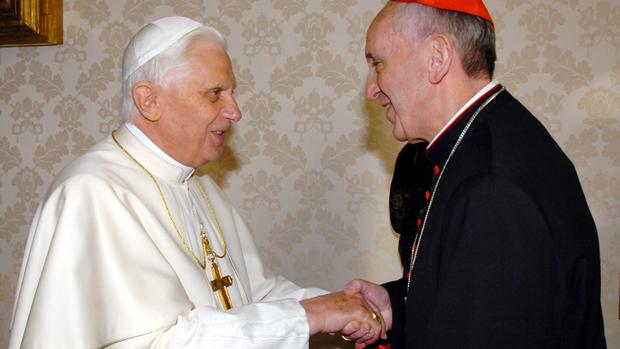 Bento XVI com Jorge Mario Bergoglio, em 2007