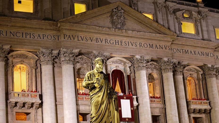 Papa Francisco na Praça São Pedro, no Vaticano
