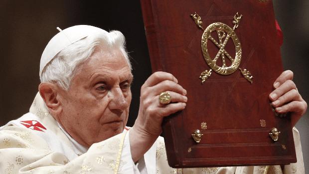O papa Bento XVI, durante a Missa do Galo