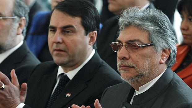 Paraguai: Fernando Lugo ao lado do vice, Federico Franco (à esq.)
