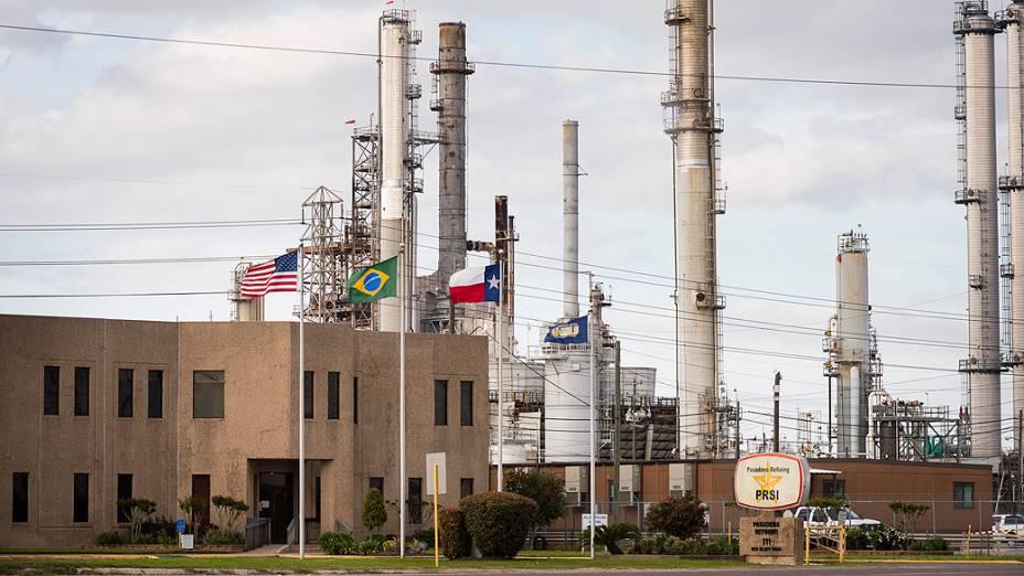 Fachada da refinaria de Pasadena, comprada pela Petrobras nos EUA