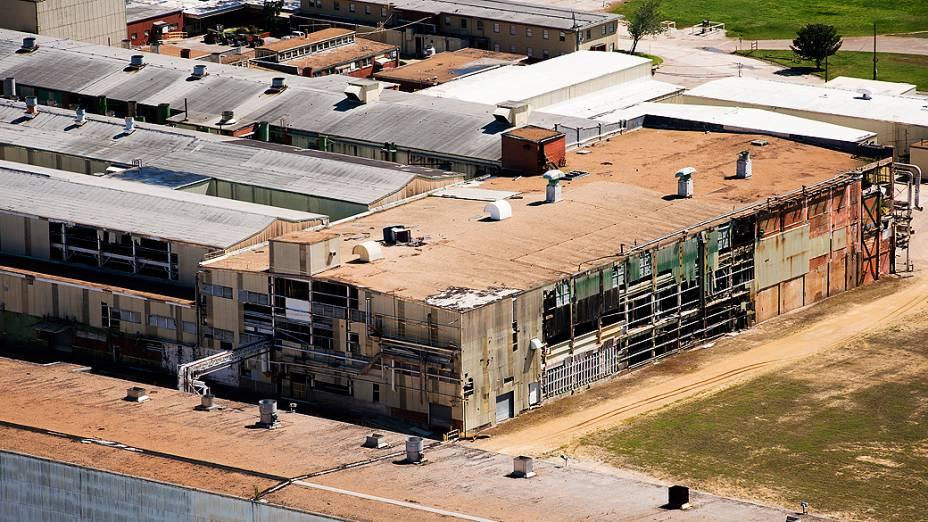 Vista aérea dos galpões da refinaria de Pasadena, comprada pela Petrobras no Texas