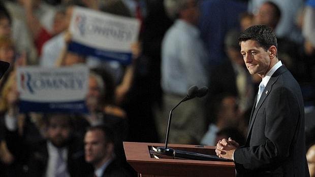 Congressista Paul Ryan discursa na Convenção Nacional Republicana, realizada na Flórida