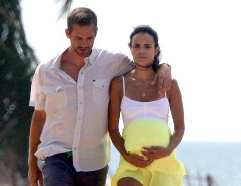 Ator Paul Walker com a atriz Jordana Brewster em Porto Rico