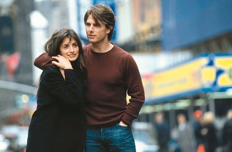 Com Tom Cruise em <em>Vanilla Sky</em>, de Cameron Crowe.