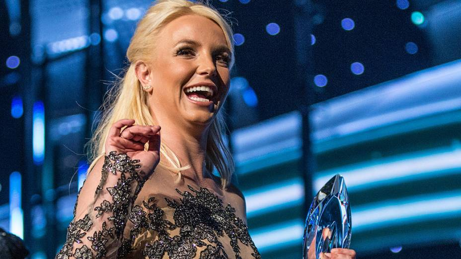 A cantora Britney Spears no prêmio The Peoples Choice Awards
