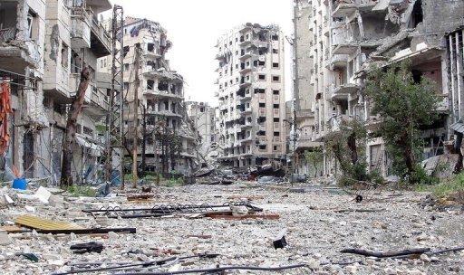 Foto de Homs, Síria, 5 de abril, 2013