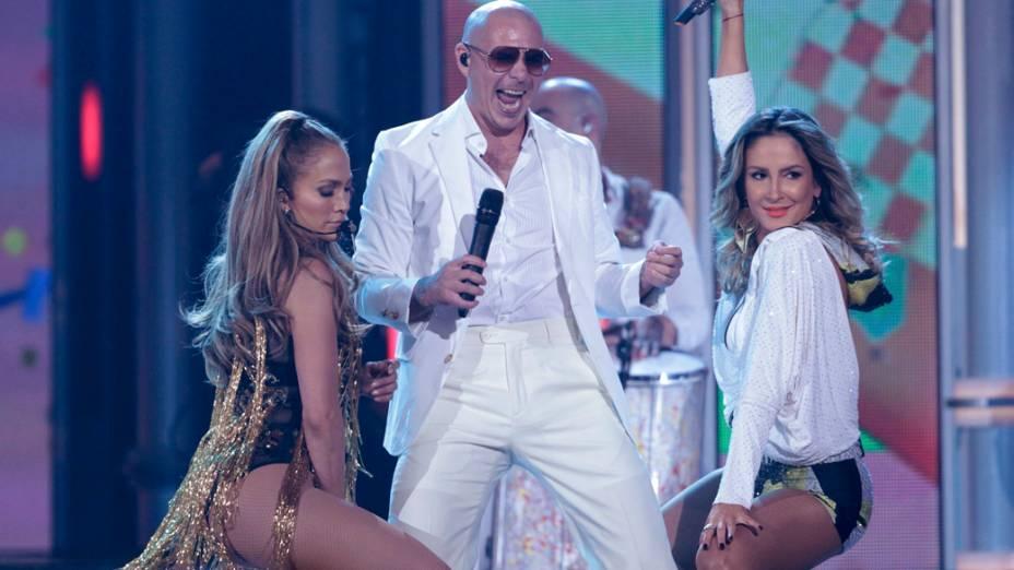 Pitbull, Claudia Leitte e Jennifer Lopez no Billboard Music Awards 2014