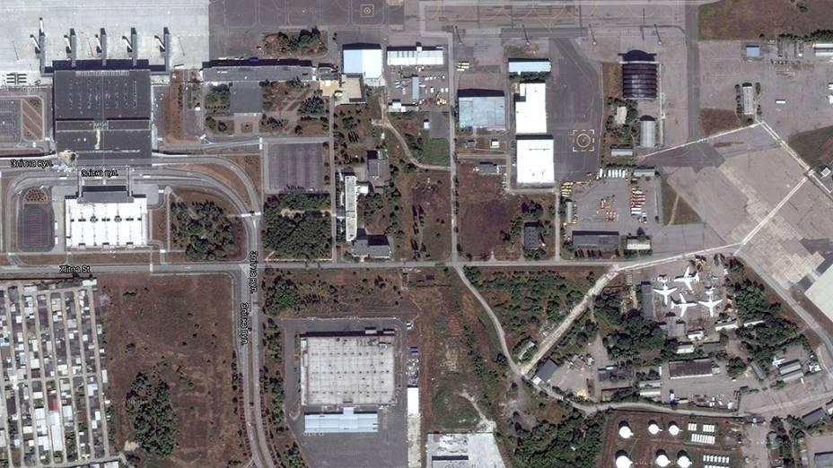 Vista geral do aeroporto em março de 2014