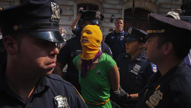 Manifestação em prol da banda russa Pussy Riot, nos Estados Unidos