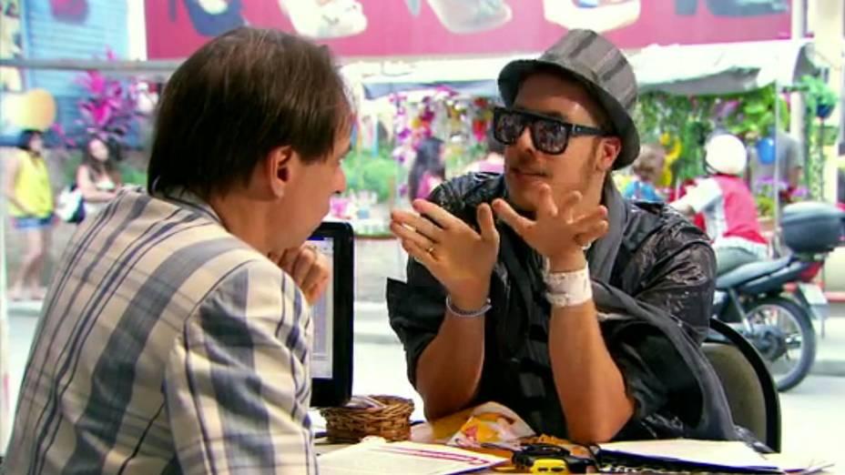 Fábio Porchat na série A Grande Família, da Rede Globo