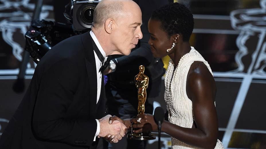 O Oscar de melhor coadjuvante foi para J.K. Simmons  em Whiplash