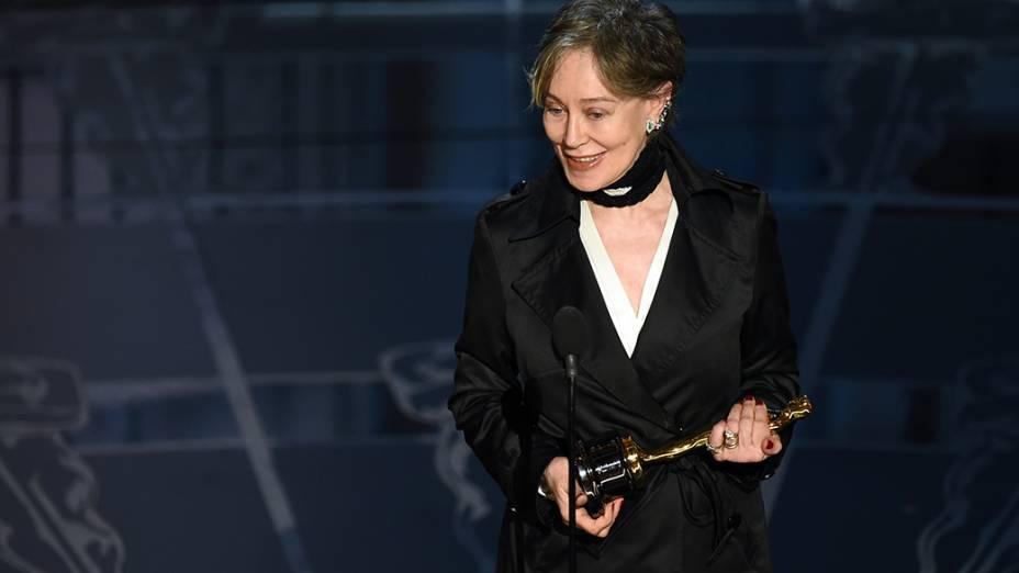 Milena Canonero vence o Oscar de melhor figurino por O grande hotel Budapeste