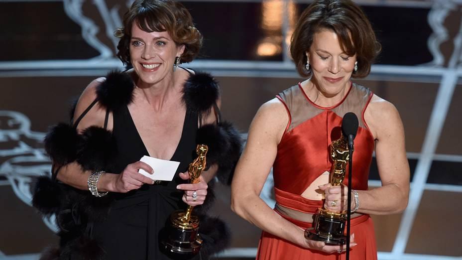 Ellen Goosenberg e Dana Perry vencedoras da categoria melhor documentário em curta-metragem por Crisis Hotline: Veterans Press 1
