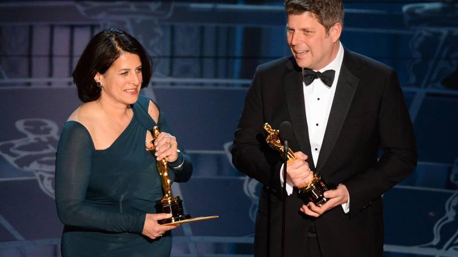 Anna Pinnock e Adam Stockhausen vencem o Oscar de design de produção por O grande hotel Budapeste