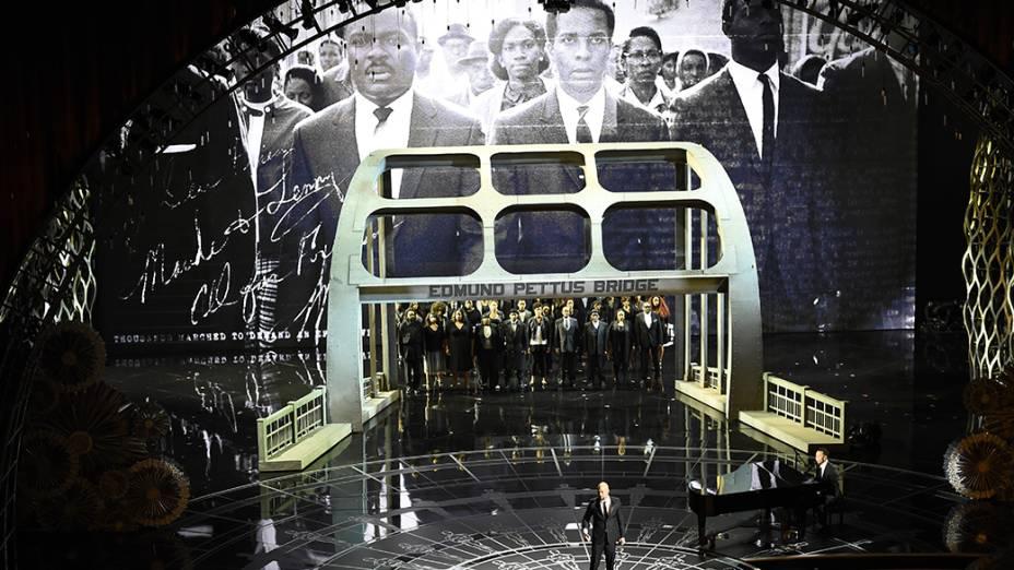 Apresentação da música Glory, tema do filme Selma