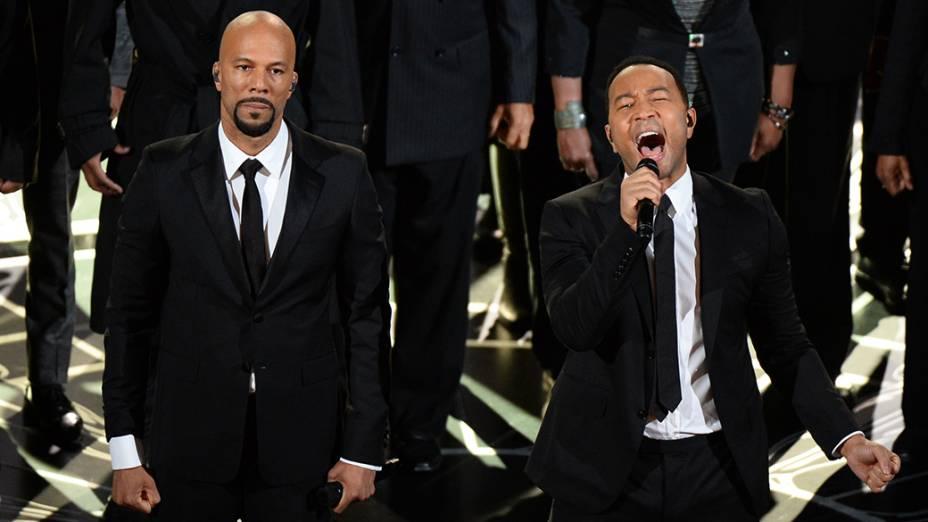 Common e John Legend apresentam a canção Glory, do filme Selma
