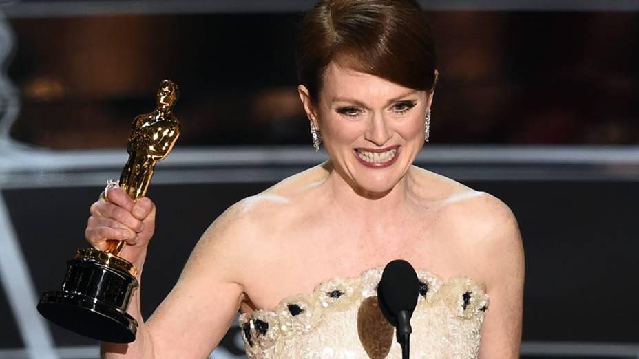 Julianne Moore, de Para Sempre Alice, leva o prêmio de melhor atriz