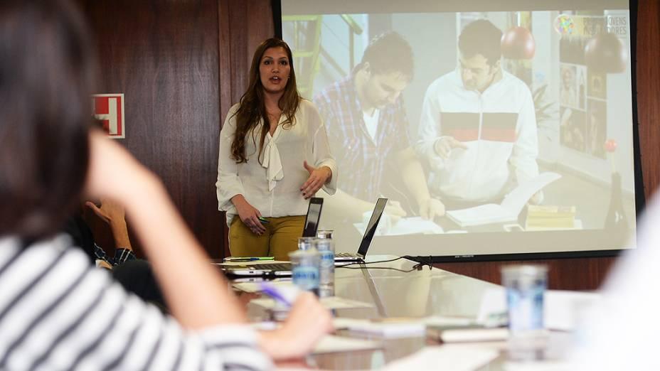 Finalistas do Prêmio Jovens Inspiradores, parceria entre VEJA.com e a Fundação Estudar, durante última etapa do concurso em São Paulo