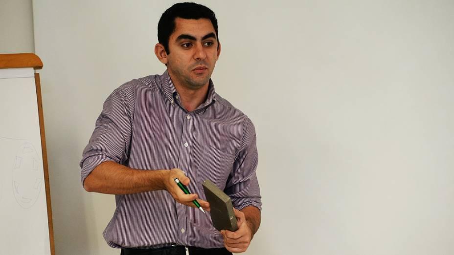 Felipe Machado, finalista do Prêmio Jovens Inspiradores, durante etapa final do concurso em São Paulo (2/12/13)