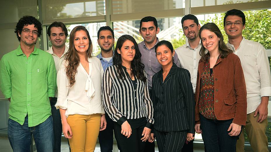 Finalistas do Prêmio Jovens Inspiradores, parceria entre VEJA.com e a Fundação Estudar, reunidos para última etapa do concurso em São Paulo (2/12/2013)