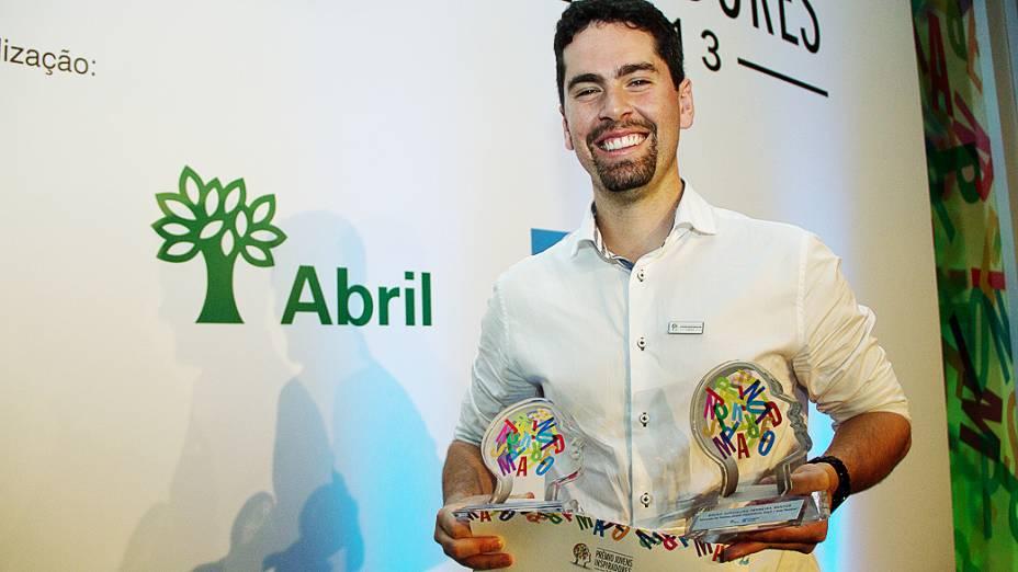 Bruno Santos foi um dos vencedores do Prêmio Jovens Inspiradores 2013