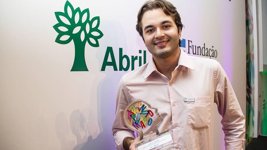 Samuel Gondim, um dos vencedores do Prêmio Jovens Inspiradores 2013